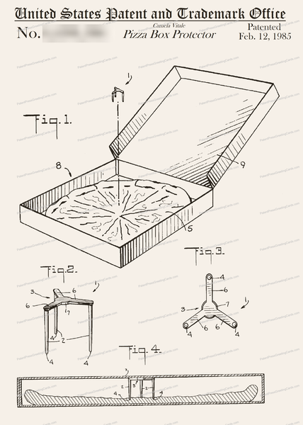 CARD-100: Pizza Box Protector - Patent Press™