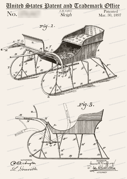 CARD-108: Sleigh - Patent Press™