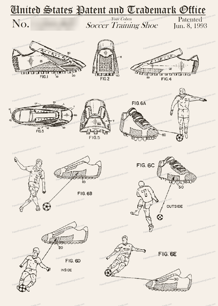 CARD-111: Soccer Shoe - Patent Press™