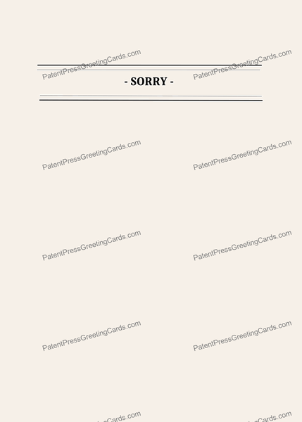 CARD-112: Sorry
