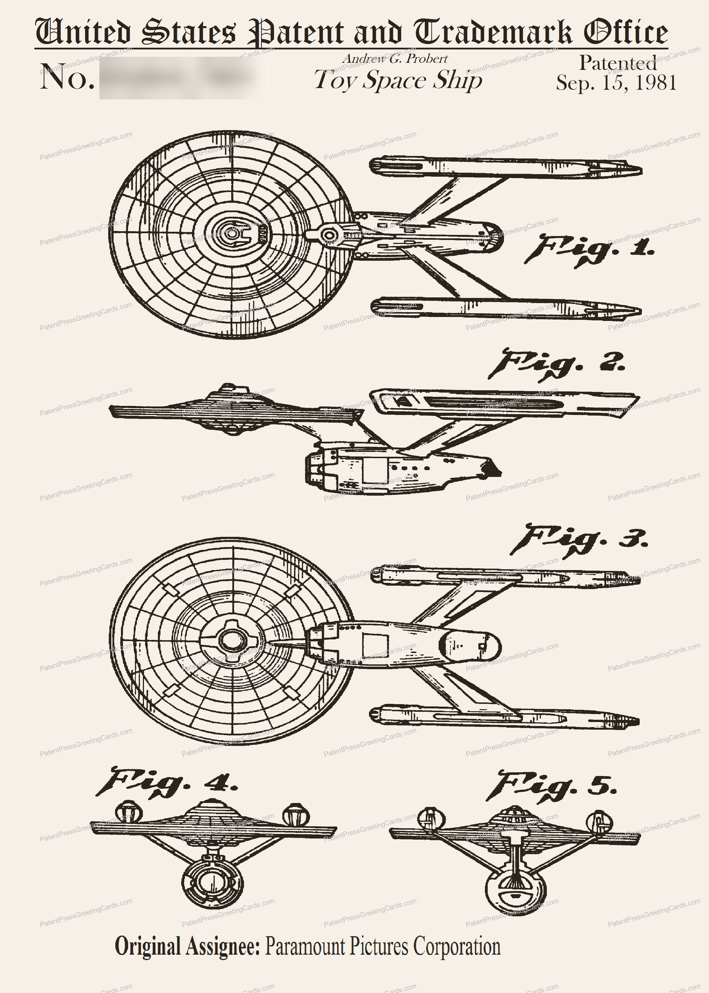 CARD-116: Star Trek Enterprise (1981) - Patent Press™