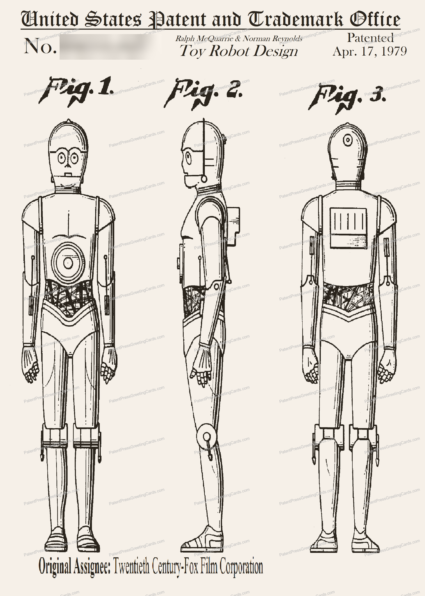 CARD-117: Star Wars C-3PO - Patent Press™