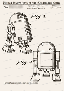 CARD-118: Star Wars R2-D2 - Patent Press™