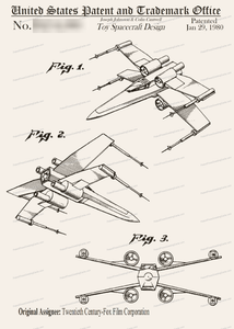 CARD-119: Star Wars X-Wing Fighter - Patent Press™