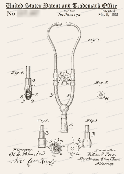 CARD-122: Stethoscope - Patent Press™