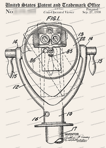 CARD-124: Coin Operated Binoculars - Patent Press™