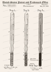 CARD-129: Thermometer - Patent Press™