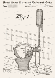 CARD-131: Toilet - Patent Press™