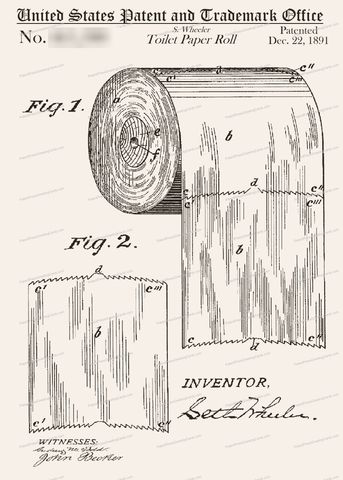 CARD-132: Toilet Paper - Patent Press™