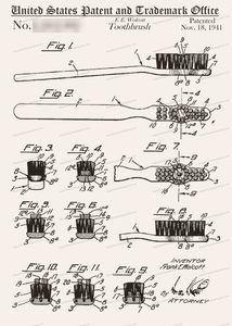 CARD-134: Tooth Brush - Patent Press™
