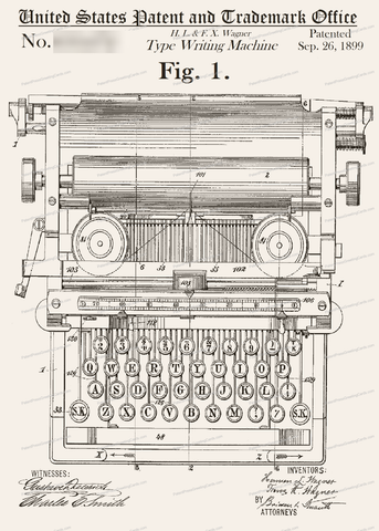 CARD-137: Typewriter (1938) - Patent Press™