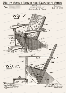 CARD-141: Adirondack Chair - Patent Press™