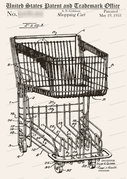 CARD-147: Grocery Cart - Patent Press™