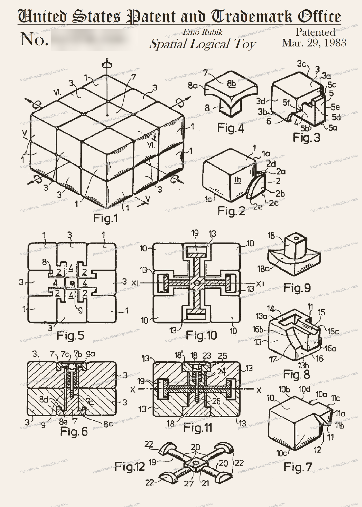 CARD-149: Rubik's Cube - Patent Press™