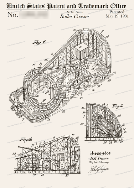 CARD-151: Roller Coaster - Patent Press™