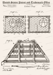 CARD-155: Lobster Trap - Patent Press™