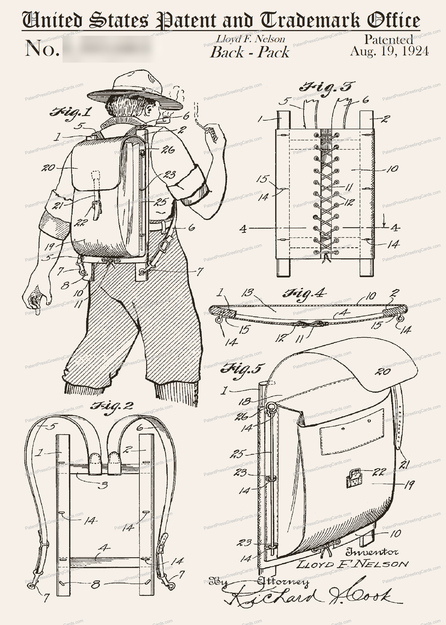CARD-162: Backpack - Patent Press™