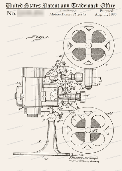 CARD-171: Movie Projector - Patent Press™
