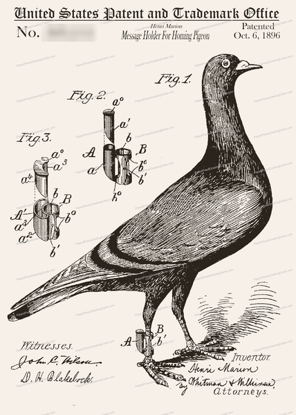 CARD-172: Homing Pigeon - Patent Press™