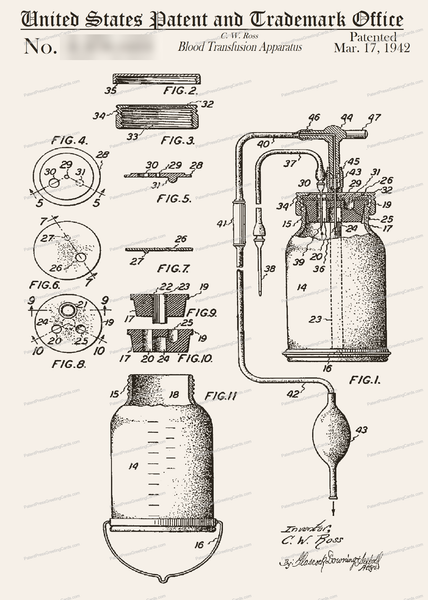 CARD-181: Blood Transfusion Apparatus - Patent Press™