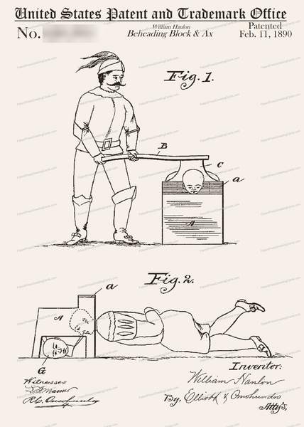 CARD-182: Beheading Block & Ax - Patent Press™