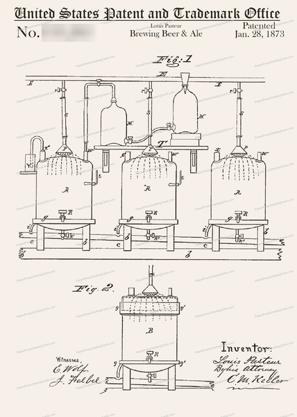 CARD-183: Louis Pasteur Beer Brewing - Patent Press™
