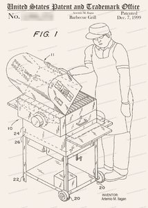 CARD-185: Charcoal Barbecue - Patent Press™