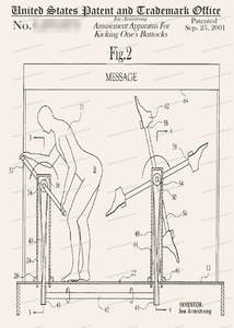 CARD-195: Apparatus for Kicking Buttocks - Patent Press™