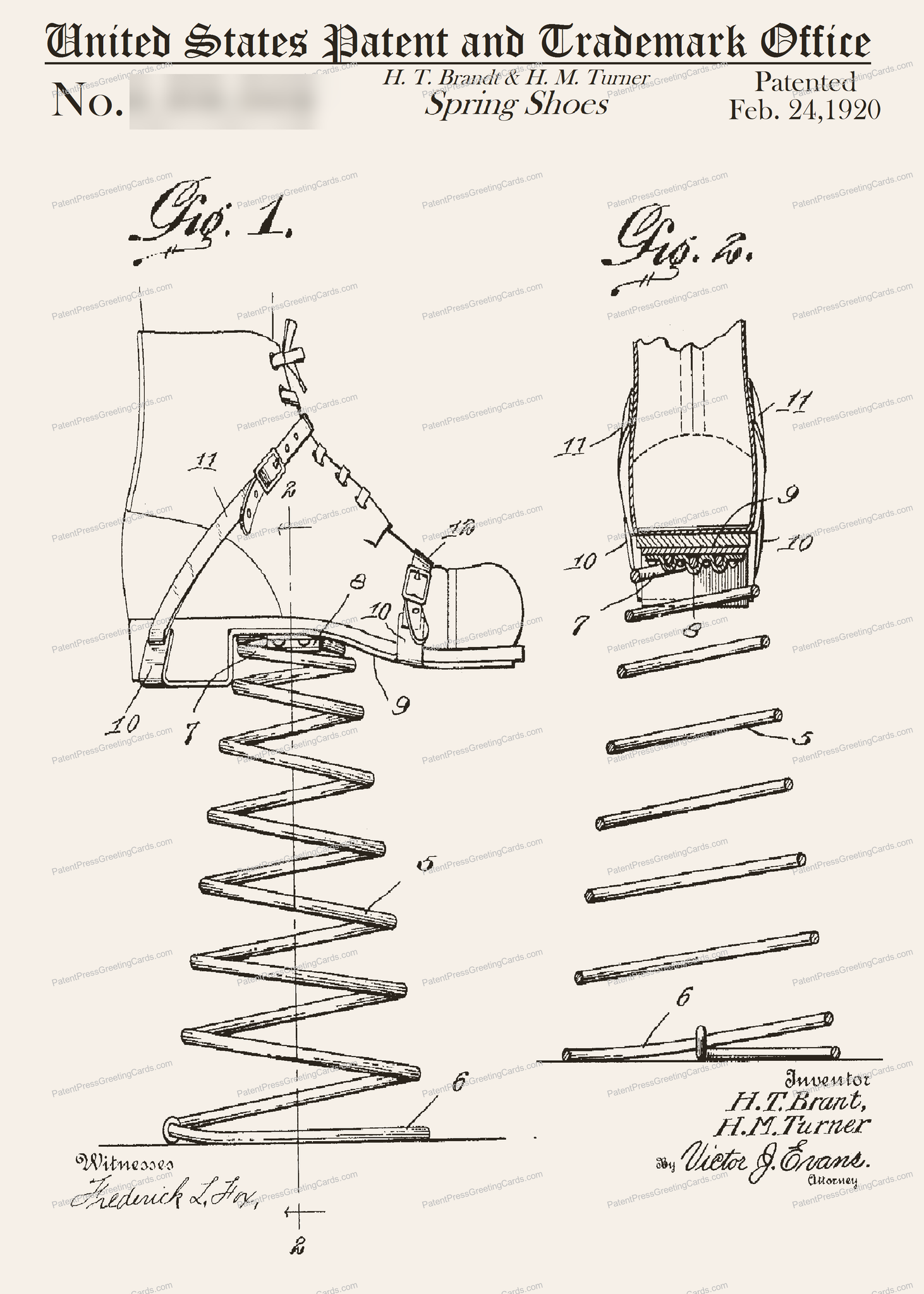 CARD-198: Spring Shoes - Patent Press™