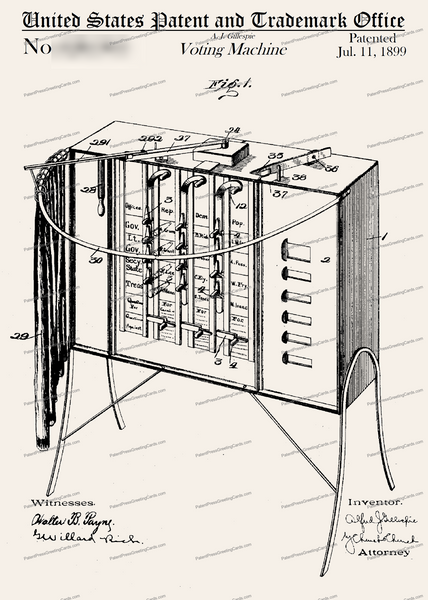 CARD-208: Voting Machine - Patent Press™