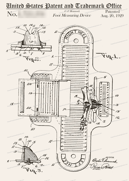 CARD-209: Foot Measuring Device - Patent Press™
