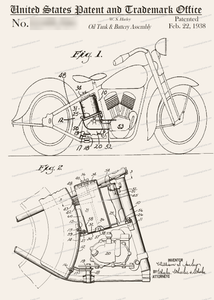CARD-218: Motorcycle - Patent Press™