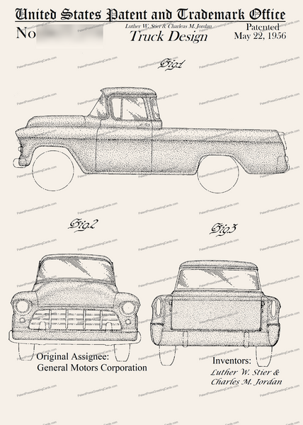 CARD-222: Pickup Truck - Patent Press™