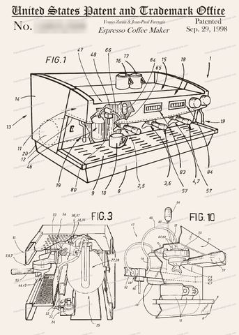 CARD-225: Espresso Machine - Patent Press™
