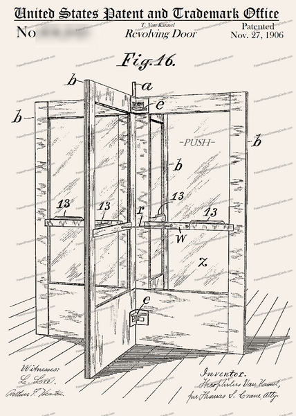 CARD-226: Revolving Door - Patent Press™