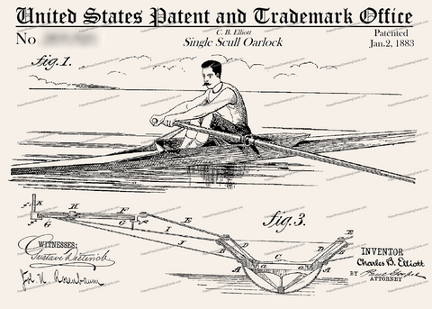 CARD-230: Single Scull Oarlock - Patent Press™
