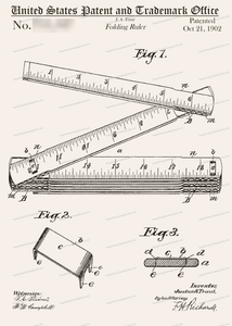 CARD-235: Ruler - Patent Press™