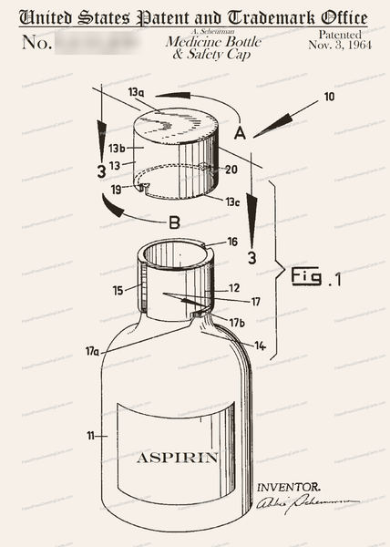 CARD-244: Aspirin Bottle - Patent Press™