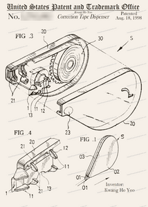 CARD-250: Correction Tape Dispenser - Patent Press™