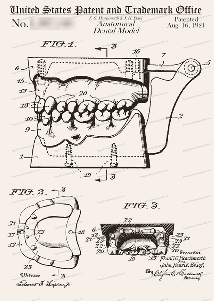 CARD-252: Dental Model - Patent Press™