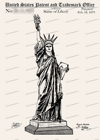 CARD-253: Statue of Liberty - Patent Press™