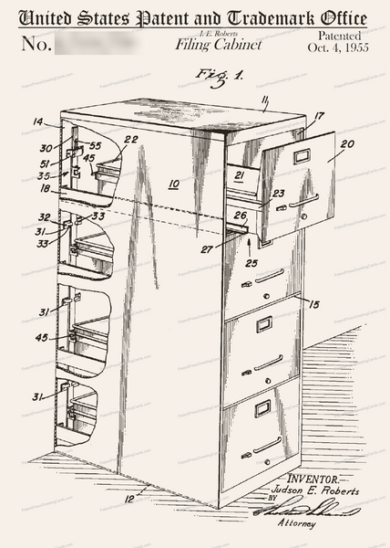 CARD-255: File Cabinet - Patent Press™