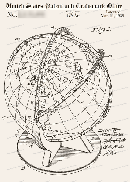 CARD-256: Globe - Patent Press™