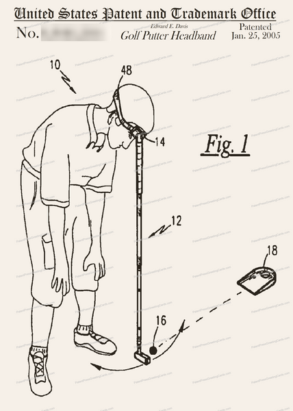 CARD-258: Golf Putter Headband - Patent Press™
