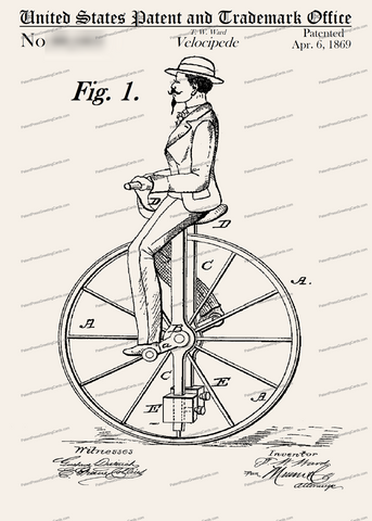CARD-260: Velocipede - Patent Press™