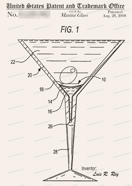 CARD-262: Martini Glass - Patent Press™