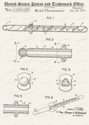 CARD-265: Rectal Thermometer - Patent Press™