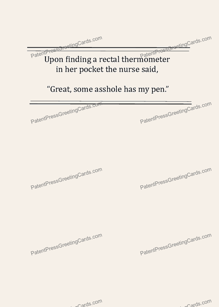 CARD-265: Rectal Thermometer