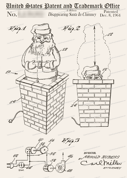 CARD-268: Santa Chimney - Patent Press™