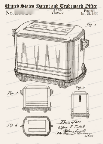 CARD-274: Toaster - Patent Press™